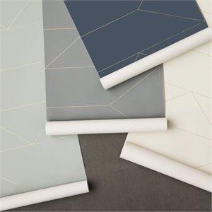 Papier peint lignes bleu fonc - Papier peint tres epais ...