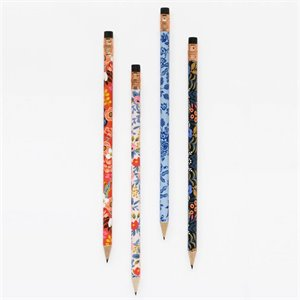 Set of 12 pencils - Floral