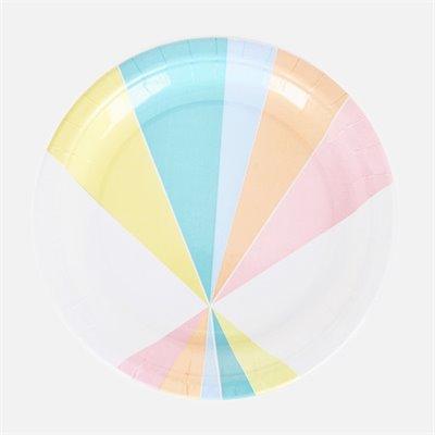 & Pastel paper plates