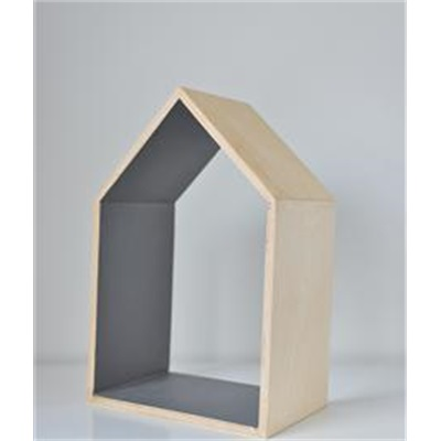 Wooden house - gray (medium)