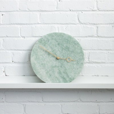 Marble Clock - ming green