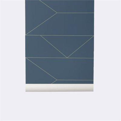D cors muraux buk nola - Papier peint bleu fonce ...
