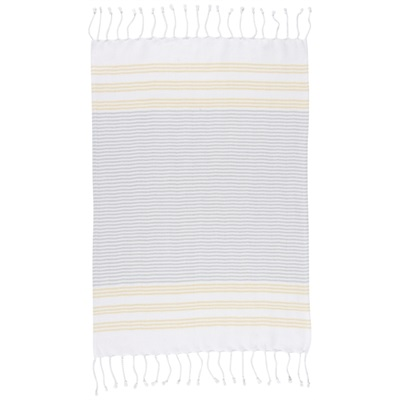 Striped hand towel - citron