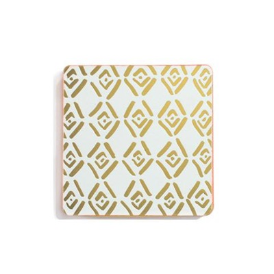 Gold tiled coasters