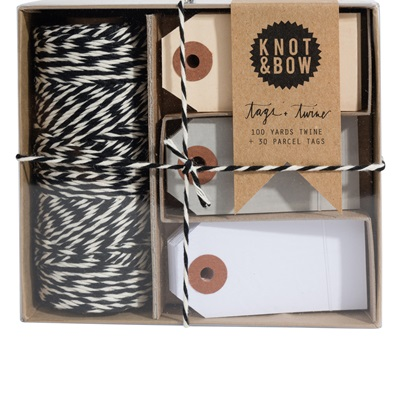 Tag and twine combo - Black and natural