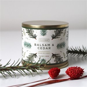 Large tin candle - Balsam and cedar