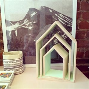 Wooden house - mint (large)
