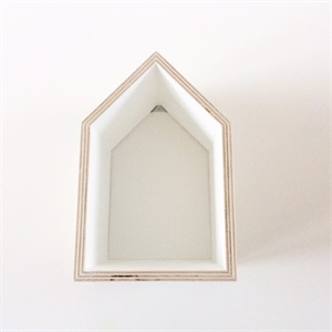 Wooden House - white (small)