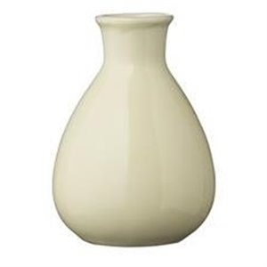 Soft yellow vase