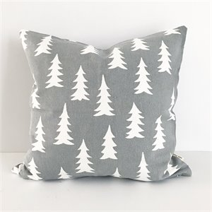 Coussin sapins - gris