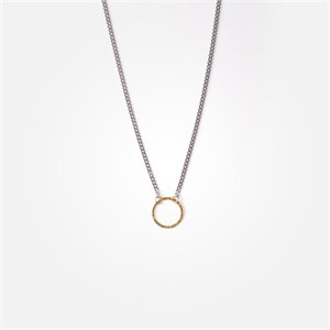 Collier Jackie - anneau or