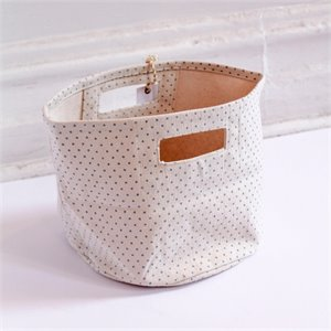 Mini basket - Blue dots