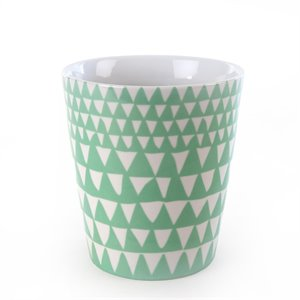 Triangle planter - mint green