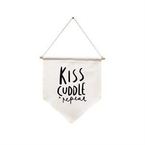 Flag banner - kiss- cuddle-repeat