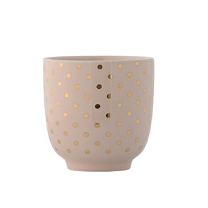 Pink cup - gold dots
