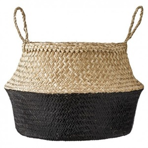 Seagrass basket - black