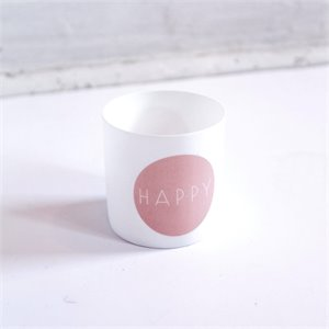 Tealight holder - happy