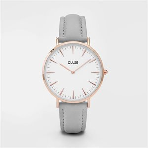 watch - rose gold and gray