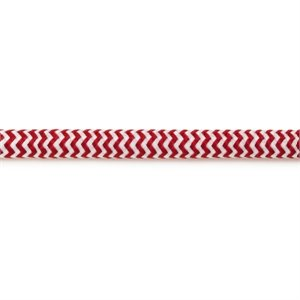 Pendant light cord - white and red