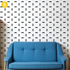 Confetti Wallsticker - black