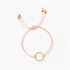 Isabel bracelet - gold and watermelon