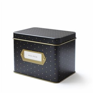 Recipe box - Polka dots