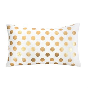 Coussin rectangle - Pois dorés
