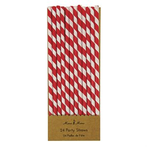 Party Straws - red