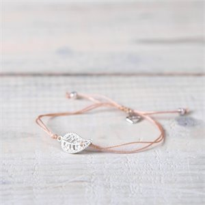 Mia bracelet - silver and pink