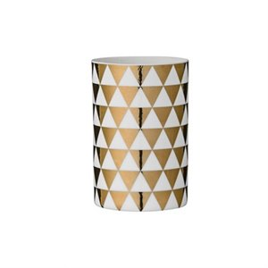 Gold triangle vase - 1