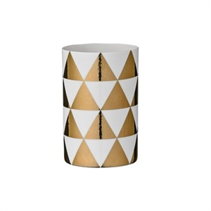Gold triangle vase - 2