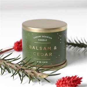 Small tin candle - Balsam and cedar