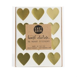 Heart stickers - gold