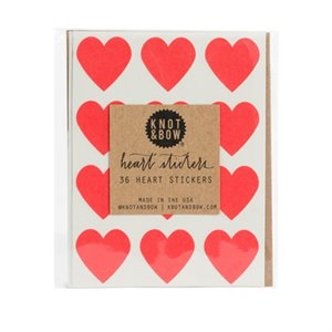 Heart stickers - red