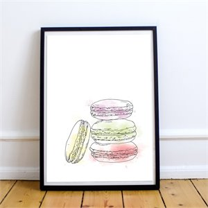 Affiche - Macarons