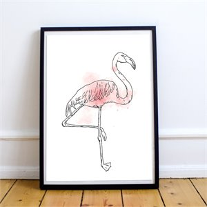 Affiche - Flamant rose