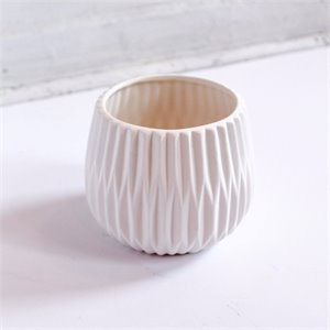 Ceramic flower pot - White