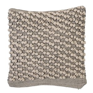 Textured pillow - beige and black