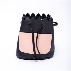 Small Leather Bucket Handbag