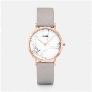 Watch La roche petite - White Marble, rose gold and gray