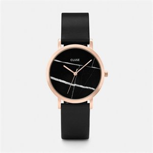 Watch La roche petite - Black Marble, rose gold and black