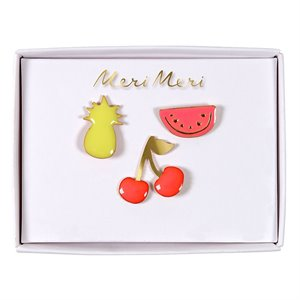Broches en émail - Fruits