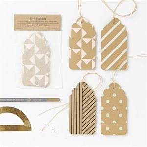 Assorted Kraft Pastel Tags