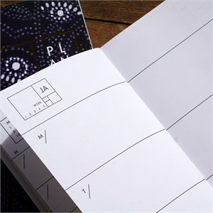 Planner - white marble