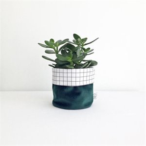 Small basket - green velvet