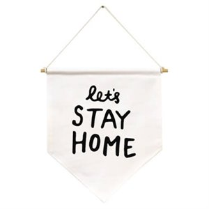 Flag banner - Let's stay home