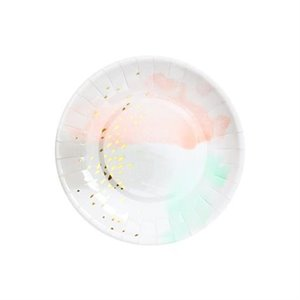 Watercolor Small Party Plates - Daydream