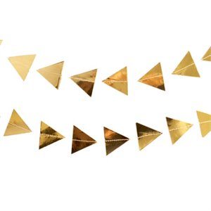 Gold Triangles Garland
