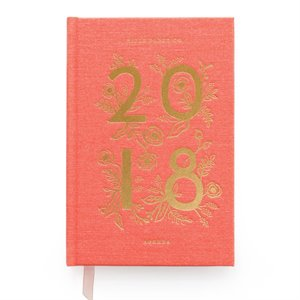 12-Month Planner 2018 - Coral