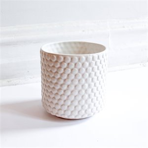 Ceramic plant pot - white